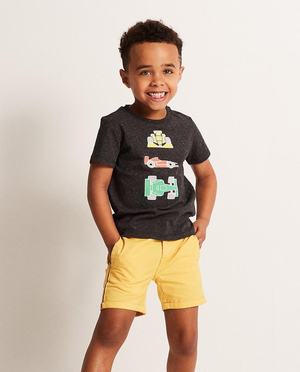 T-Shirts - Dunkelgrau - T-Shirt mit Autoprint